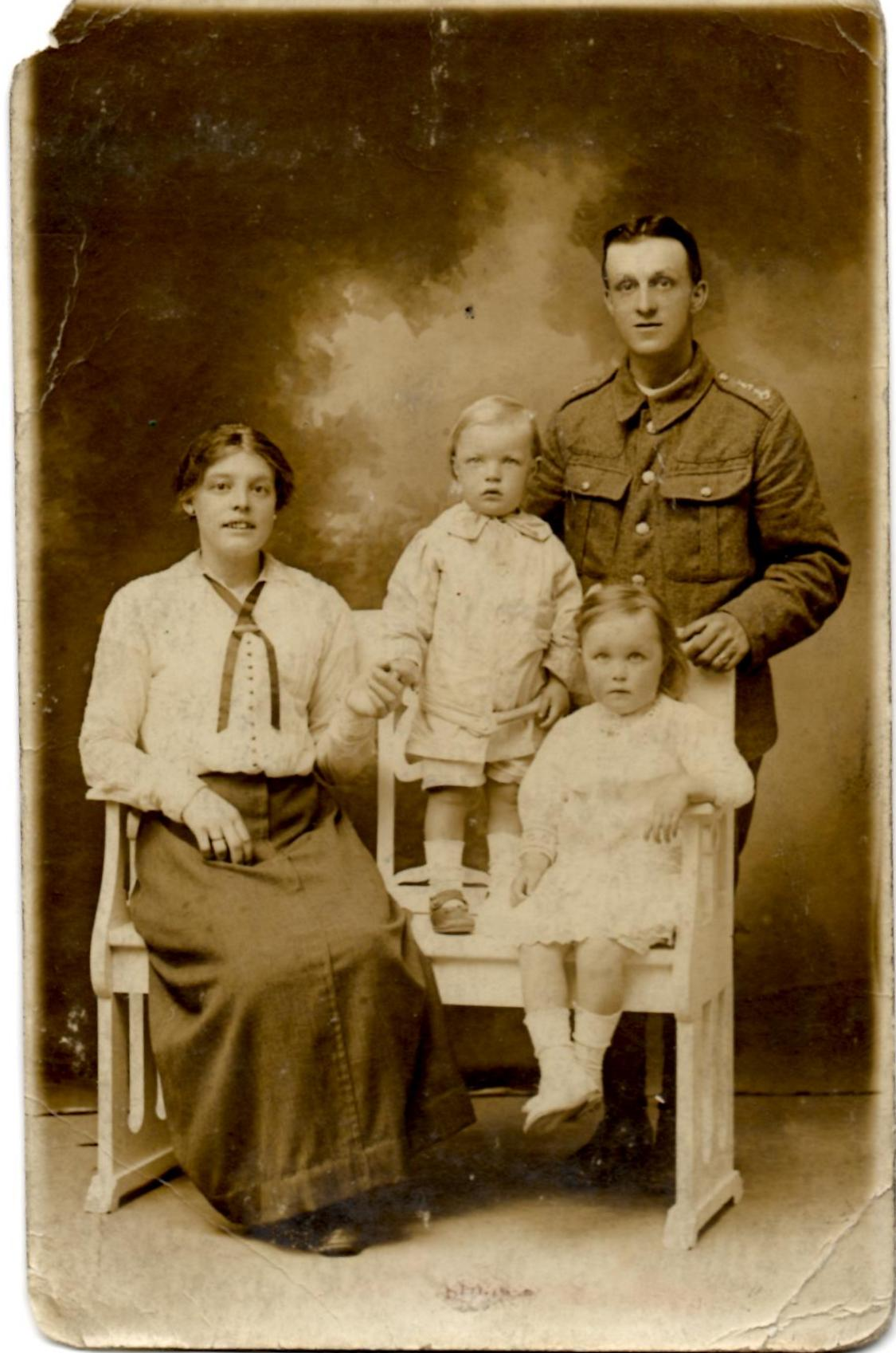 Matthew Denham family photograph WW1