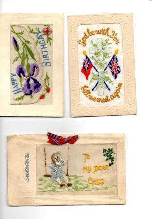 WW1 postcards sent home