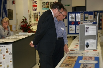Phil Wilson MP at WW1 Exhibition