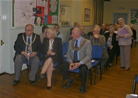 John Robinson, the Mayor of Sedgefield District Council talking to the Mayor of Great Aycliffe and his wife