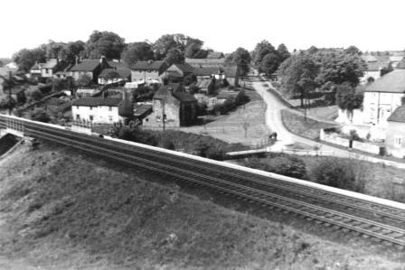 View of Aycliffe from the railway