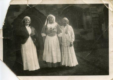 Aycliffe ladies outside St Andrews Church circa 1920