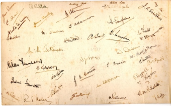 ROF names on back of photograph