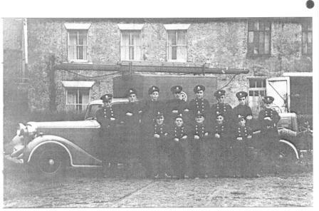 Aycliffe Village Auxiliary Fire Service taken in the 1940s by Scott's Mill