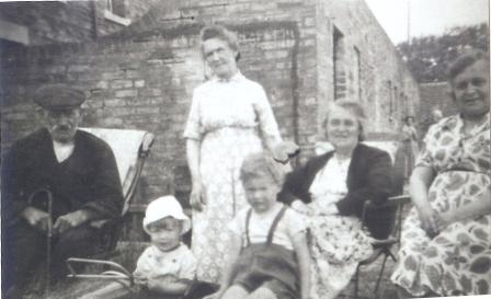 The Robinson Family at  Railway Cottages