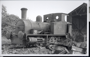 Hazels loco outside shed