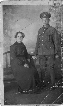 Arthur Huntly Sargeant and his mother Harriet