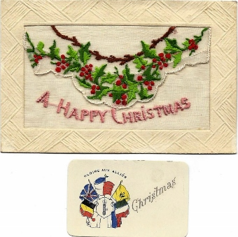 WW1 silk Christmas card