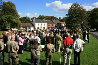 Those who attended the WW1 tree planting ceremony