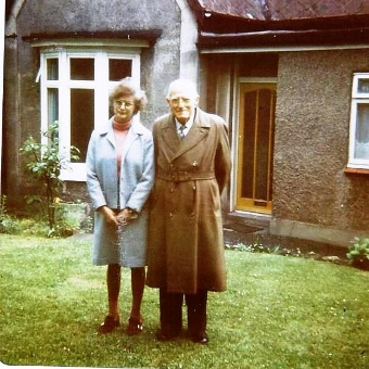 Edward Smith with niece Marie Holden