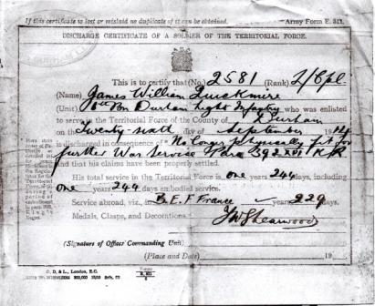 James William Quickmire document