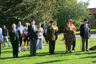 Military at WW1 tree planting ceremony